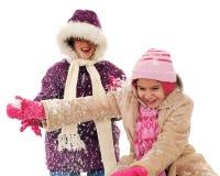 χιόνι παιχνιδιού Στοκ φωτογραφίες με δικαίωμα ελεύθερης χρήσης