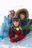 χιόνι παιδιών Στοκ Φωτογραφίες
