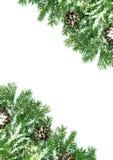 χιόνι πλαισίου Χριστουγέ& Στοκ φωτογραφία με δικαίωμα ελεύθερης χρήσης