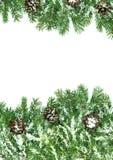 χιόνι πλαισίου Χριστουγέ& Στοκ φωτογραφίες με δικαίωμα ελεύθερης χρήσης