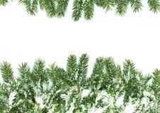χιόνι πλαισίου Χριστουγέ& Στοκ Εικόνα
