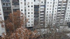 Χιόνι που εμπίπτει σε μια πόλη φιλμ μικρού μήκους