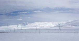 Χιόνι που καλύπτεται από τα άσπρα σύννεφα 14 Στοκ εικόνα με δικαίωμα ελεύθερης χρήσης