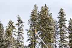 Χιόνι που κατασκευάζει τη μηχανή στοκ εικόνα με δικαίωμα ελεύθερης χρήσης