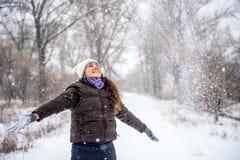 χιόνι που ρίχνει τις νεολ&al Στοκ φωτογραφία με δικαίωμα ελεύθερης χρήσης