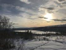 Χιόνι σε μια κορυφή βουνών Στοκ φωτογραφία με δικαίωμα ελεύθερης χρήσης