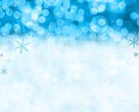 χιόνι σκηνής Χριστουγέννων Στοκ φωτογραφία με δικαίωμα ελεύθερης χρήσης