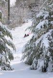 χιόνι σκηνής Στοκ φωτογραφία με δικαίωμα ελεύθερης χρήσης