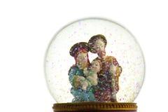 χιόνι σκηνής nativity σφαιρών στοκ φωτογραφίες με δικαίωμα ελεύθερης χρήσης