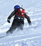 χιόνι σκονών snowboarder στοκ εικόνες με δικαίωμα ελεύθερης χρήσης