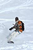χιόνι σκονών snowboarder στοκ εικόνες