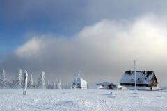 χιόνι σπιτιών Στοκ Εικόνες