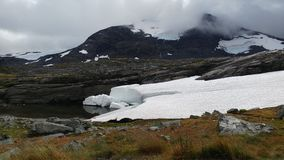 Χιόνι στα βουνά Στοκ Εικόνα