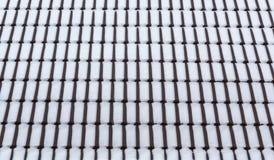 Χιόνι στα κεραμίδια στεγών στοκ εικόνες