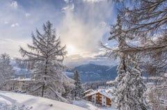 χιόνι στα όρη Στοκ Φωτογραφίες