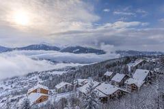 χιόνι στα όρη Στοκ Εικόνες