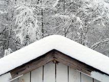 χιόνι στεγών Στοκ Φωτογραφίες