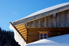 χιόνι στεγών Στοκ Εικόνες
