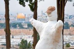 Χιόνι στην Ιερουσαλήμ. Στοκ φωτογραφίες με δικαίωμα ελεύθερης χρήσης