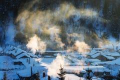 Χιόνι στην Κίνα Στοκ Εικόνες