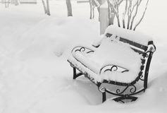 Χιόνι στην οδό Στοκ φωτογραφία με δικαίωμα ελεύθερης χρήσης