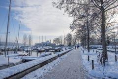 Χιόνι στη Ζυρίχη Στοκ φωτογραφία με δικαίωμα ελεύθερης χρήσης