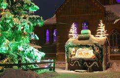 Χιόνι στη Ρήγα Στοκ Φωτογραφίες