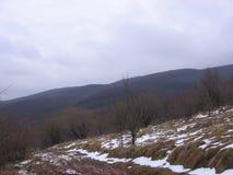 Χιόνι στο βουνό Στοκ εικόνα με δικαίωμα ελεύθερης χρήσης