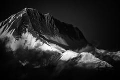 Χιόνι στο μέγιστο πιό everest βουνό του Ιμαλαίαυ στοκ εικόνες με δικαίωμα ελεύθερης χρήσης