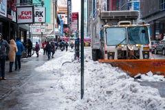 Χιόνι στο Μανχάταν Στοκ εικόνα με δικαίωμα ελεύθερης χρήσης