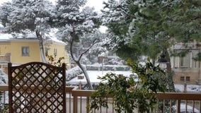 Χιόνι στο σπίτι μου στοκ φωτογραφία με δικαίωμα ελεύθερης χρήσης