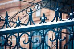 Χιόνι στο φράκτη Στοκ φωτογραφία με δικαίωμα ελεύθερης χρήσης