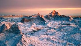 Χιόνι στο Badlands Στοκ εικόνες με δικαίωμα ελεύθερης χρήσης