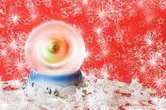 χιόνι σφαιρών Χριστουγέννω&n Στοκ Φωτογραφία