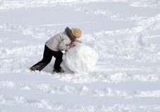 χιόνι σφαιρών Στοκ Φωτογραφίες