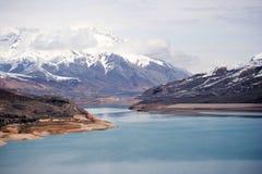 χιόνι Τασκένδη Ουζμπεκιστάν βουνών Στοκ Εικόνα