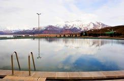 χιόνι Τασκένδη Ουζμπεκιστάν βουνών Στοκ Φωτογραφίες