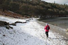 Χιόνι της Αγγλίας ταξιδιού περιοχής λιμνών στοκ φωτογραφίες με δικαίωμα ελεύθερης χρήσης