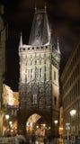 χιόνι της Πράγας νύχτας στοκ εικόνες με δικαίωμα ελεύθερης χρήσης