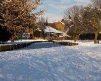 χιόνι τοπίων Στοκ Φωτογραφίες