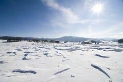 χιόνι τοπίων Στοκ εικόνες με δικαίωμα ελεύθερης χρήσης