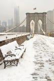 χιόνι του Μπρούκλιν γεφυ&rho Στοκ Φωτογραφία