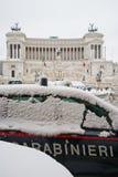 Χιόνι του Victor Emmanuel Carabinieri στοκ φωτογραφίες με δικαίωμα ελεύθερης χρήσης