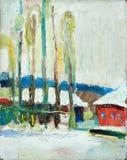 χιόνι φθινοπώρου διανυσματική απεικόνιση