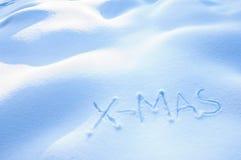 χιόνι Χ MAS στοκ φωτογραφία με δικαίωμα ελεύθερης χρήσης