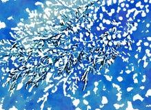 χιόνι ψηφιακή εικόνα Stylization Watercolor απεικόνιση αποθεμάτων