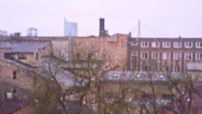 Χιόνι Bokeh Λετονία ανοίξεων της Ρήγας φιλμ μικρού μήκους