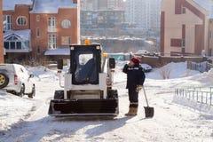 Χιόνι Clearers που έχει ένα κενό Στοκ εικόνες με δικαίωμα ελεύθερης χρήσης