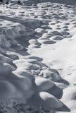 Χιόνι hoarfrost με τη σκιά και τη σκιά Στοκ εικόνα με δικαίωμα ελεύθερης χρήσης