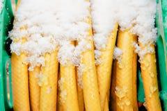 Χιόνι hosepipe στοκ εικόνες